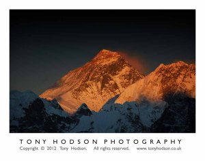 Mt Everest sunset