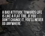 attitude -flat tyre