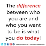difference between who you are